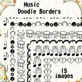 Music Doodle Borders
