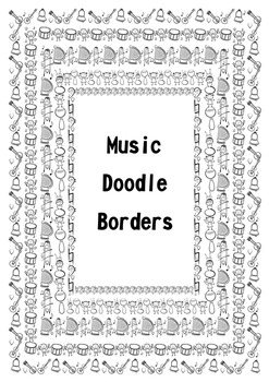 Music Doodle Borders