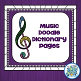 Music Doodle Dictionary Pages