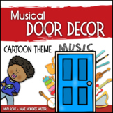 Music Door Decor - For Doors and Bulletin Boards - Cartoon Theme