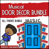 Music Door Decor - For Doors and Bulletin Boards - Multi-T
