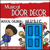 Music Door Decor - For Doors and Bulletin Boards - Musical