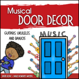 Music Door Decor - For Doors and Bulletin Boards - Ukulele