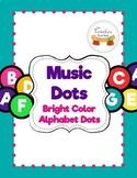 Music Dots Bright Colors Alphabet Dots Set