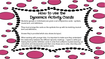 Music Dynamics Activity Cards