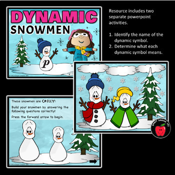 Winter Music Game: Winter Dynamics Game: Snowman Music Dynamic Game Activity
