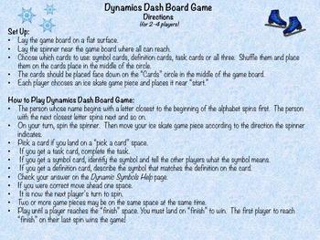 Music: Dynamics Dash Board Game