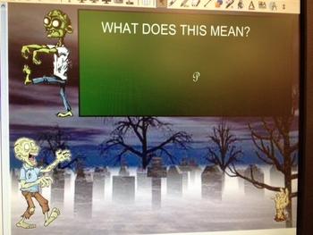 Music Dynamics Halloween Smartboard Game