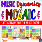 Music Dynamics Mosaic - Music/Art Activity! (Grades 3-10)