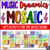 Music Dynamics Mosaic - Music/Art Activity! (Grades 3-10)
