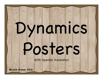 Music Dynamics Posters in English and Spanish