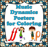 Music Dynamics Posters  for Coloring set #1