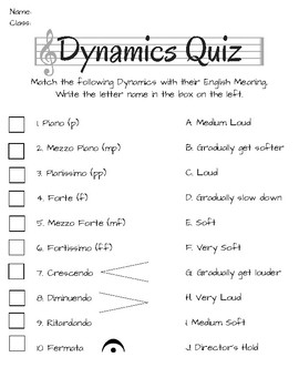Music Dynamics Quiz