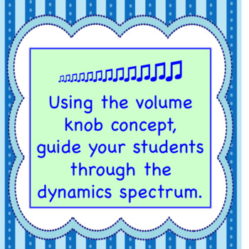 Music Dynamics Volume Knob Worksheet