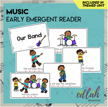 Music Early Emergent Reader - Full Color Version