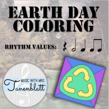 Music Earth Day Coloring Freebie