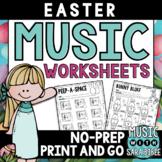 Easter Mega Pack of Music Worksheets- 76 Pages!