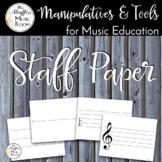 Music Education Tools - Staff Paper