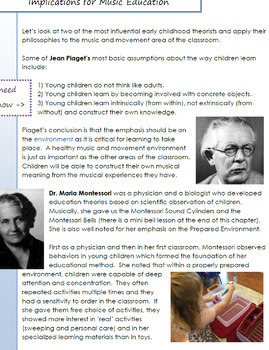 Music Education for Young Children.  Chapter 3 - Pedagogical Theorists...