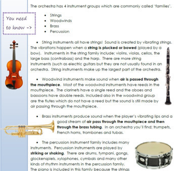 Music Education for Young Children.  Chapter 5 - Instruments
