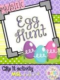 Music Easter Egg Hunt Clip It! (MSL / Half Note)
