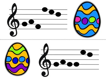 Music Egg Race Game: Treble Clef Version