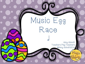 Music Egg Race Game: half note