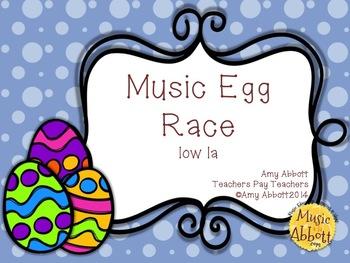 Music Egg Race Game: low la