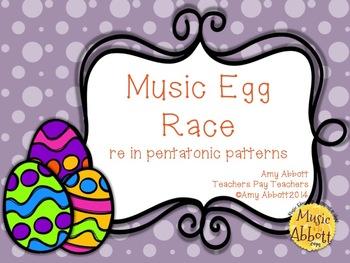 Music Egg Race Game: re version, in pentatonic patterns