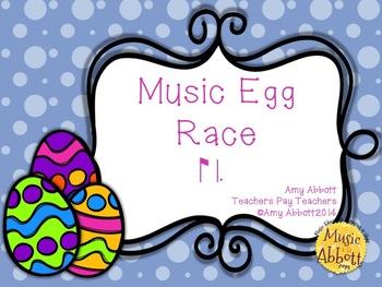 Music Egg Race Game: ti-tom
