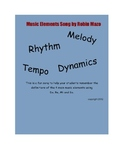 Music Elements Song for the Elementary Music Classroom PDF version