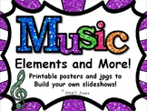 Music Elements and More Posters and jpgs to Build Your Own
