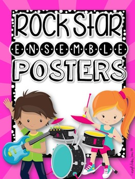 Music Ensemble Posters and Bulletin Board Set {Rock Star Themed}