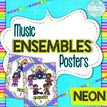 Music Ensembles Posters: Neon
