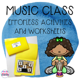 Music Errorless Activities and Worksheets