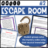 Music Escape Room #2 (Teams use music theory clues to solv