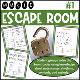 Music Escape Room #1 (Teams use music theory clues to solv