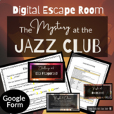 Music Escape Room - The Mystery at the Jazz Club - ALL DIGITAL!