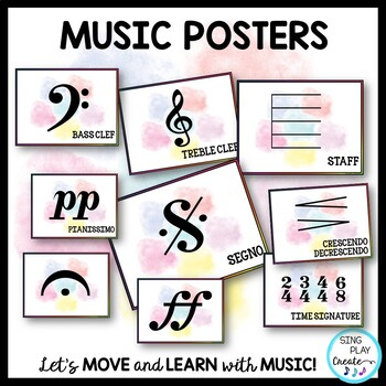 Music Essential Symbols Presentation, Posters, Flashcards