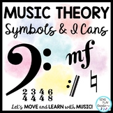 Music Theory Symbols: Presentation, Posters, Flashcards, Worksheets