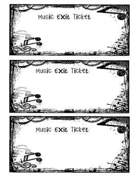 Music Exit Slip