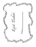 Music Exit Ticket