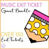 Music Exit Ticket Giant Bundle