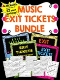 Music Exit Tickets BUNDLE! NOTE NAMES, ELEMENTS, RHYTHMS,