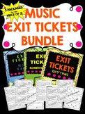 Music Exit Tickets BUNDLE!  NOTE NAMES, ELEMENTS of MUSIC,