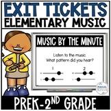 Music Exit Tickets (Digital)-Kindergarten & 1st Grade