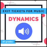 Music Exit Tickets - Dynamics
