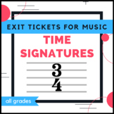 Music Exit Tickets - Time Signatures