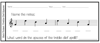 Music Exit Tickets NOTE NAMES