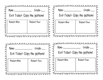 Music Exit Tickets Set One